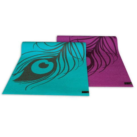 Peacock Feather Yoga & Pilates Mat - Accessory