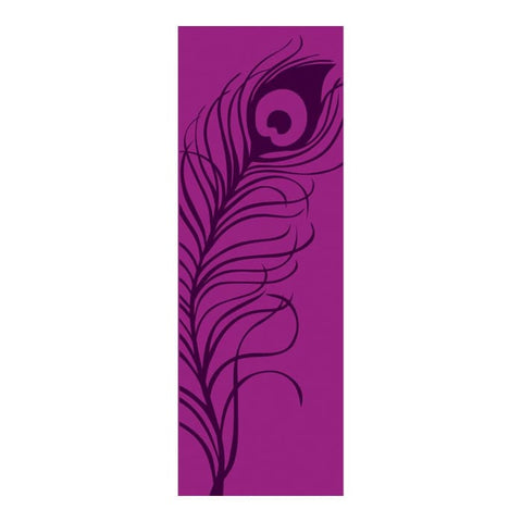 Peacock Feather Yoga & Pilates Mat - Purple - Accessory