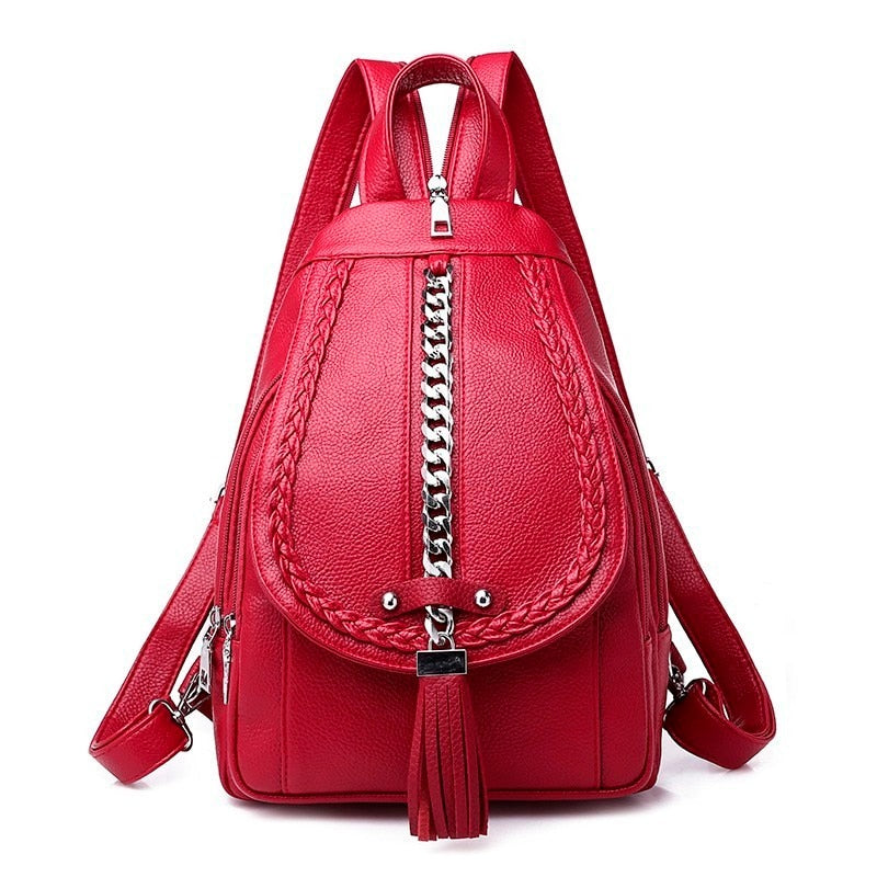 afe26fb11b Women Leather Backpack - New Fashion Style Femme Cross-body handbags- Women  Leather Backpack