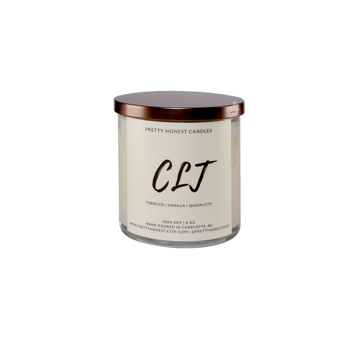 CLT Tobacco Vanilla Soy Candle - Pretty Honest Candles
