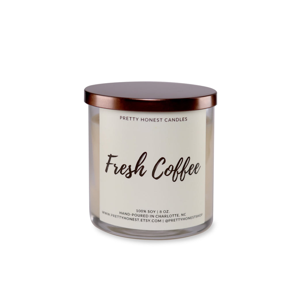 Fresh Coffee Soy Candle - Pretty Honest Candles