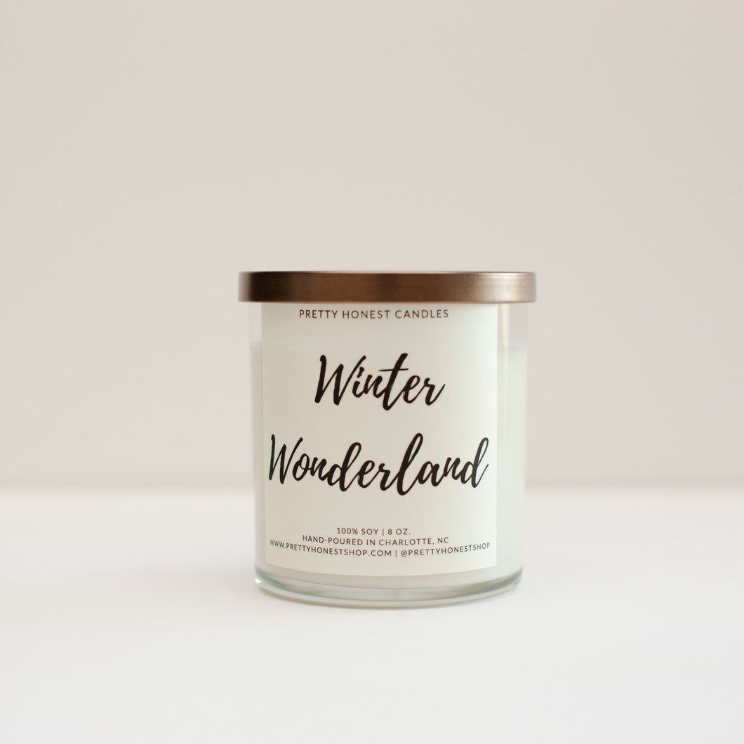 Winter Wonderland Soy Candle - Pretty Honest Candles