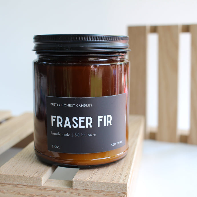 Fraser Fir Soy Candle - Amber Collection