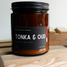 Load image into Gallery viewer, Tonka & Oud Soy Candle - Amber Collection