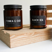 Load image into Gallery viewer, Tonka & Oud Soy Candle - Pretty Honest Candles