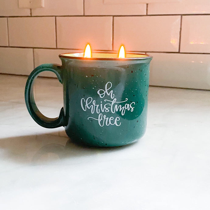 Oh, Christmas Tree Mug Candle - Pretty Honest Candles