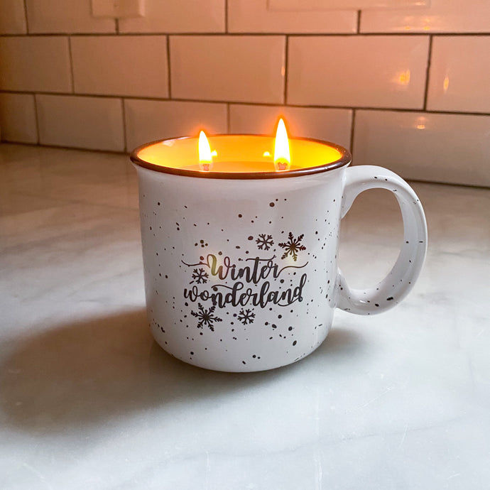 Winter Wonderland Mug Candle - Pretty Honest Candles
