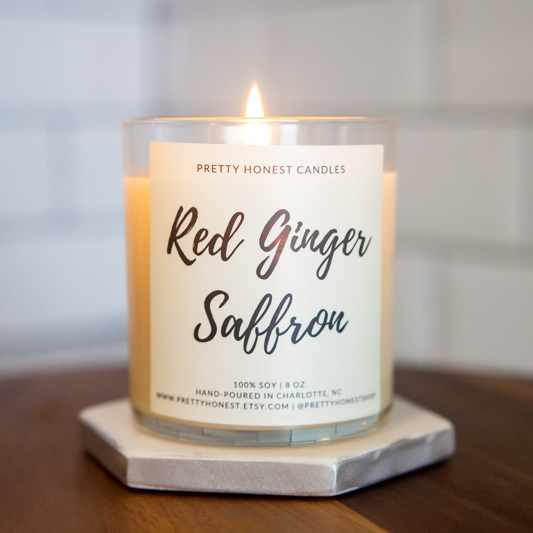 Red Ginger Saffron Soy Candle