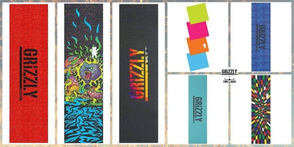 The Grizzly Spring 2019 Grip Tape Collection Has Landed at Yakwax!