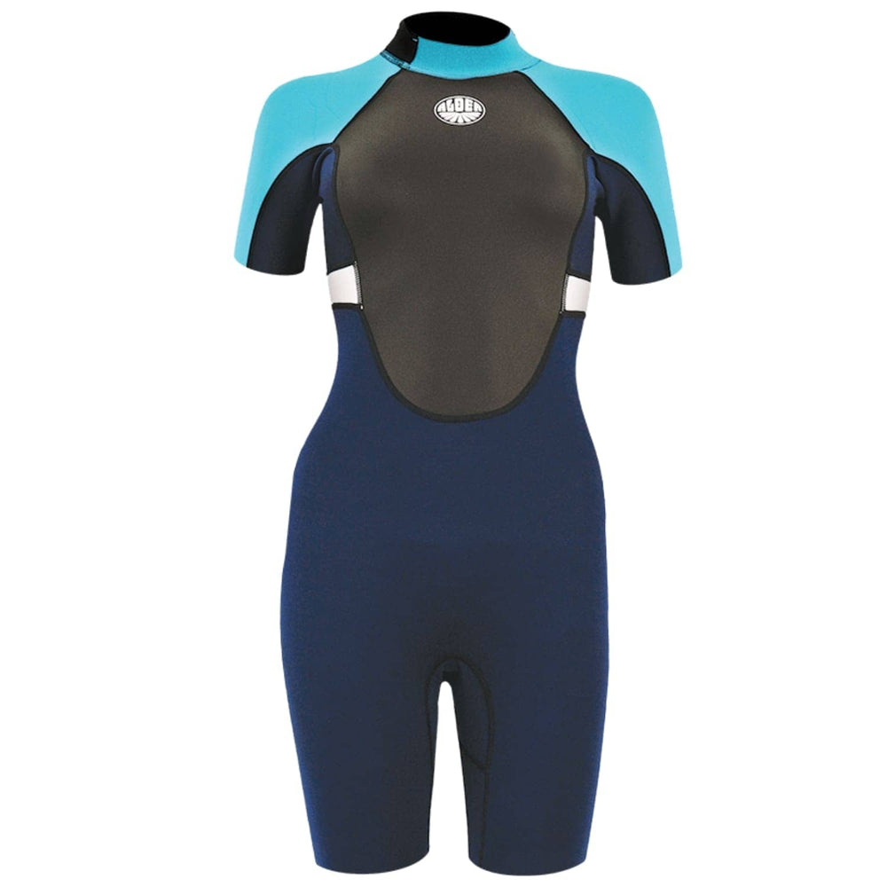 Alder Womens Impact Shorti Wetsuit 2020 Blue - Womens Shorty/Spring Wetsuit by Alder