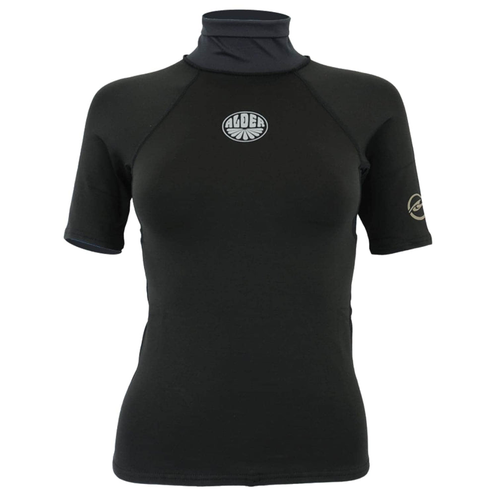 Alder Womens Spirit Ladies Thermal Fleece Rash Vest - Black