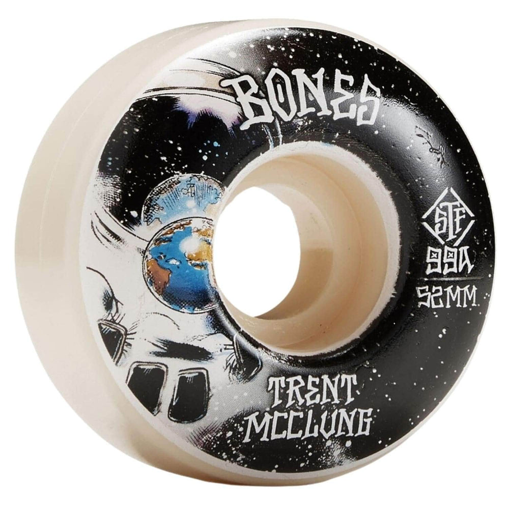 Bones STF McClung Unknown V1 99a Skateboard Wheels White 52mm - Skateboard Wheels by Bones 52mm