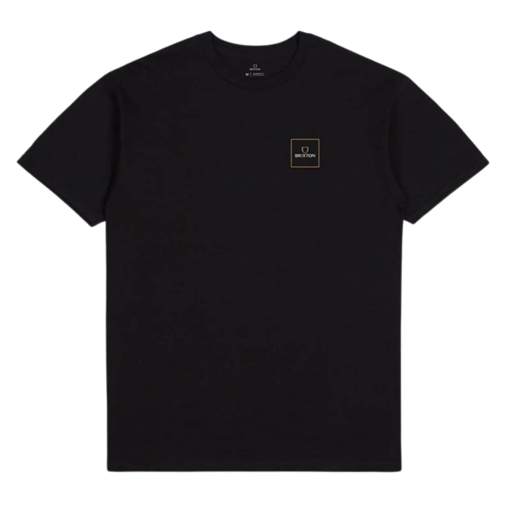 Brixton Alpha Square T-Shirt - Black/Lemon Curry - Mens Graphic T-Shirt by Brixton