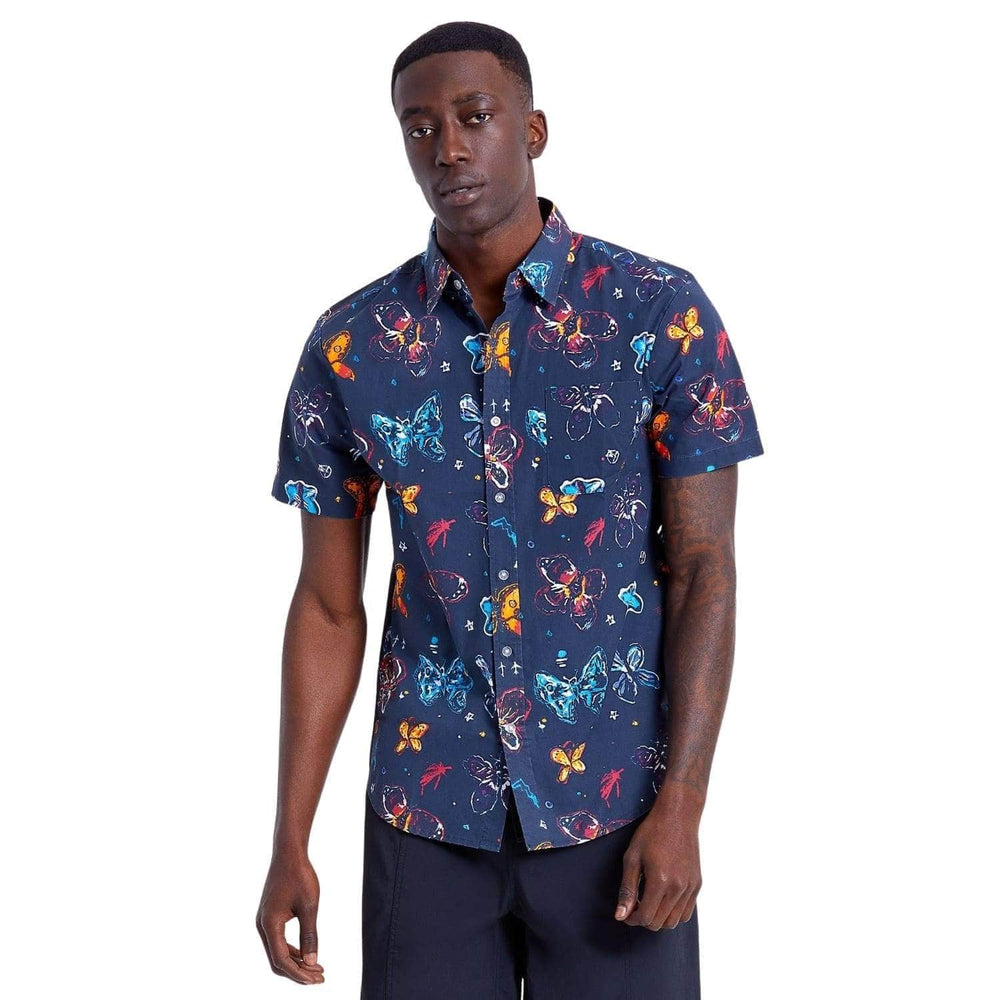 Brixton BB Fly Now S/S Shirt Black - Mens Casual Shirt by Brixton