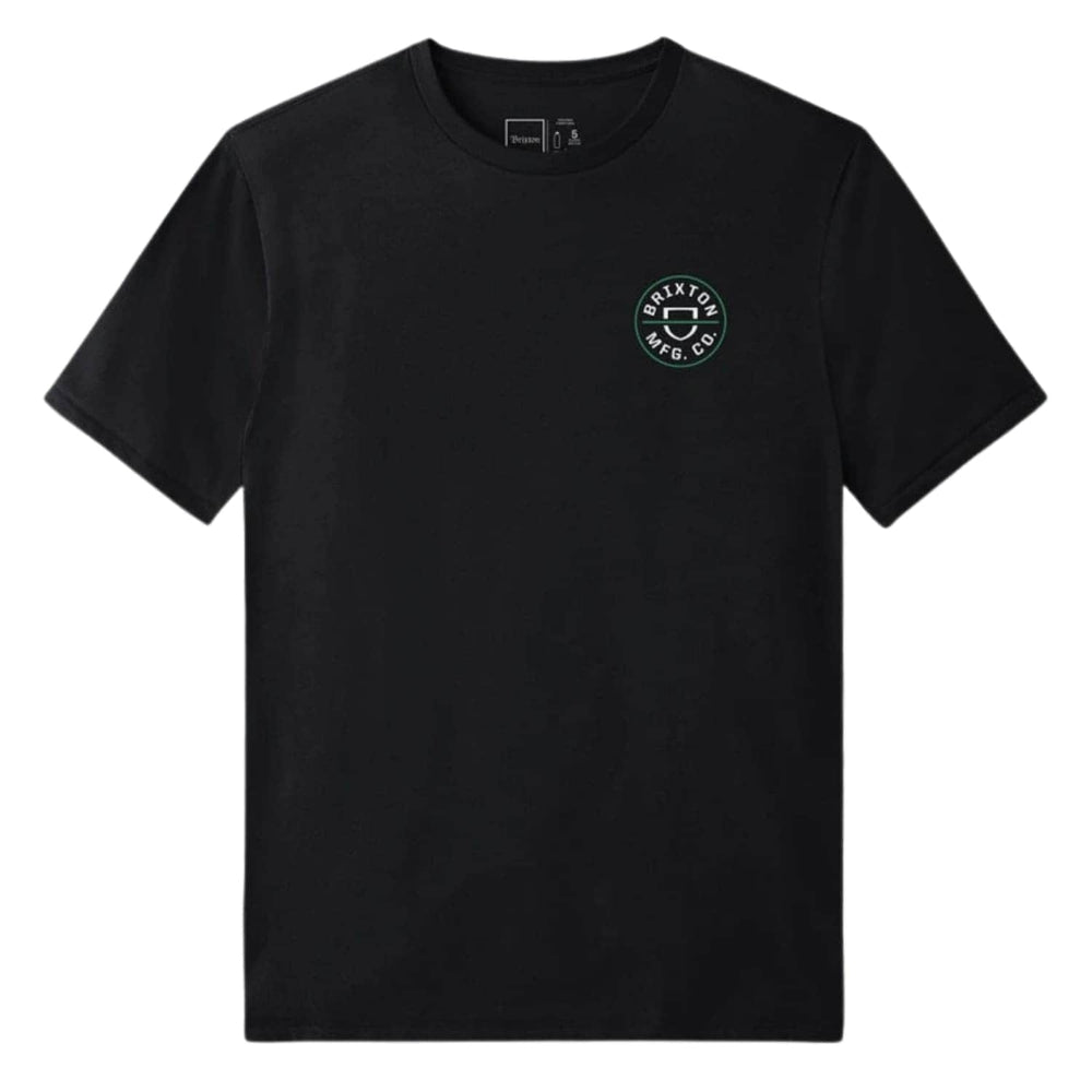 Brixton Crest X T-Shirt Black - Mens Graphic T-Shirt by Brixton