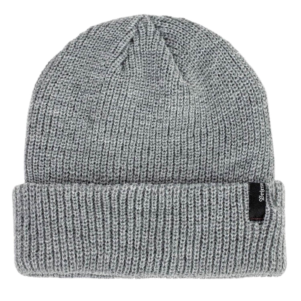 Brixton Heist Beanie Light Grey Heather One Size - Fold Beanie by Brixton