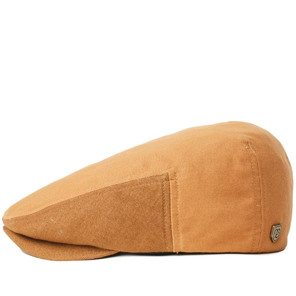 Brixton Hooligan LW Snap Flat Cap - Washed Copper/Hide