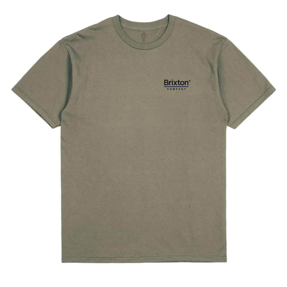 Brixton Palmer Line T-Shirt - Worn Wash Military Olive