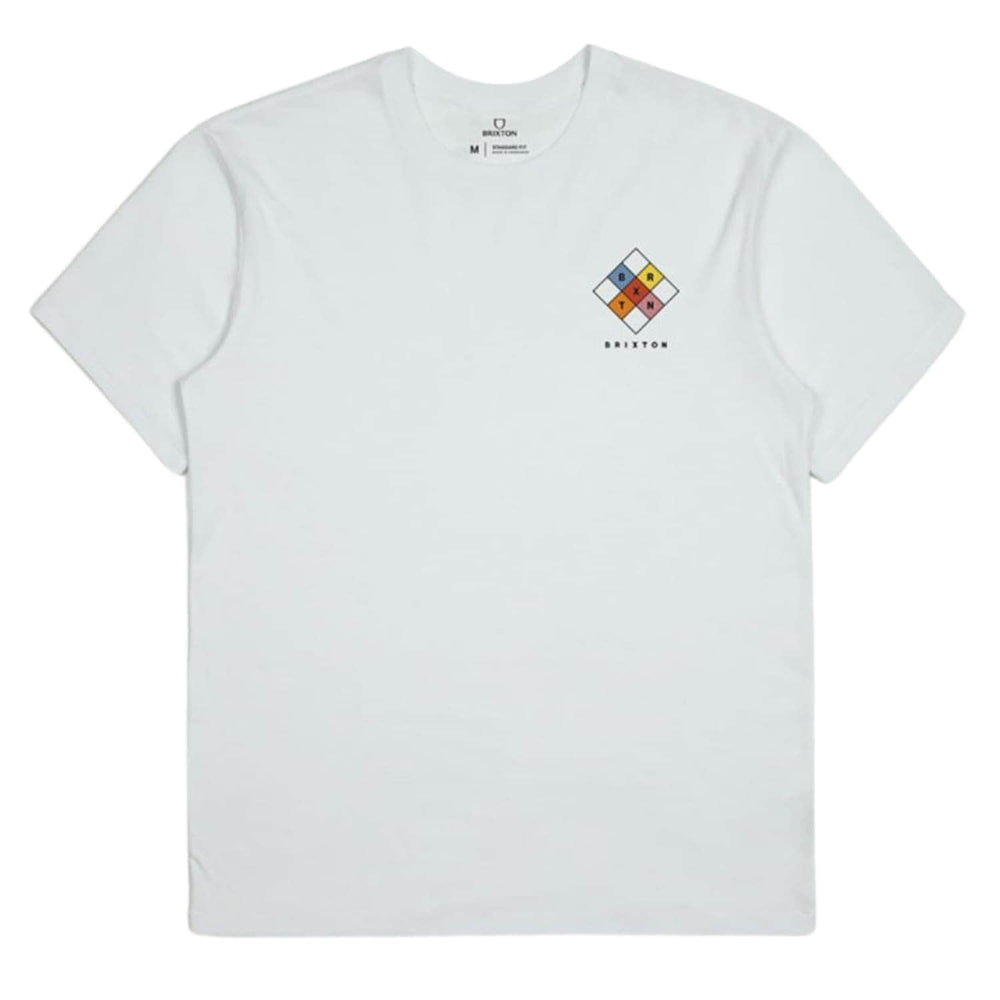 Brixton Quintet T-Shirt White - Mens Graphic T-Shirt by Brixton