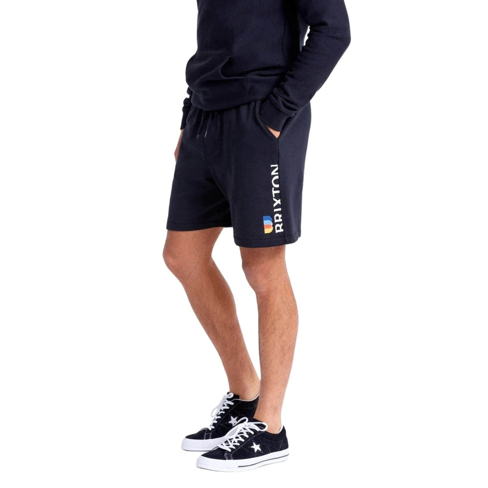 Brixton Stem Fleece X Shorts - Black