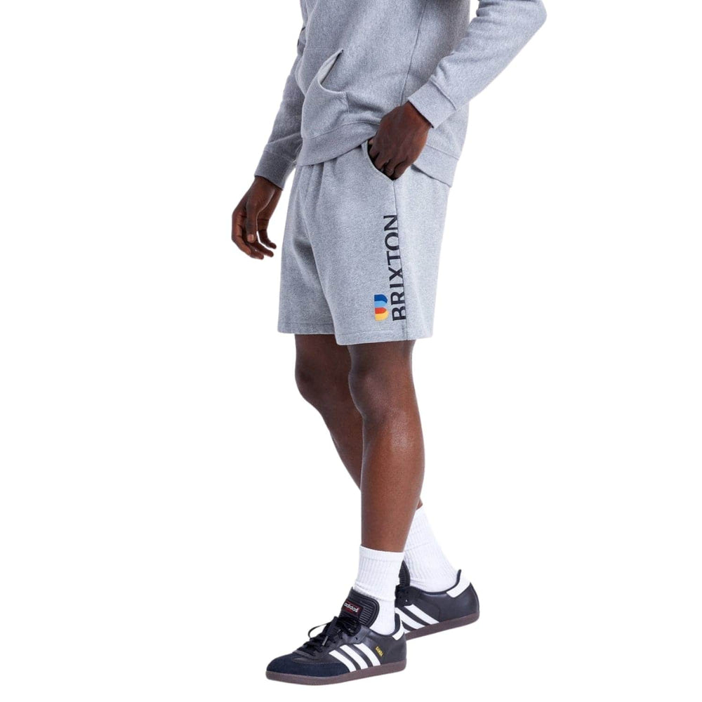 Brixton Stem Fleece X Shorts - Heather Grey