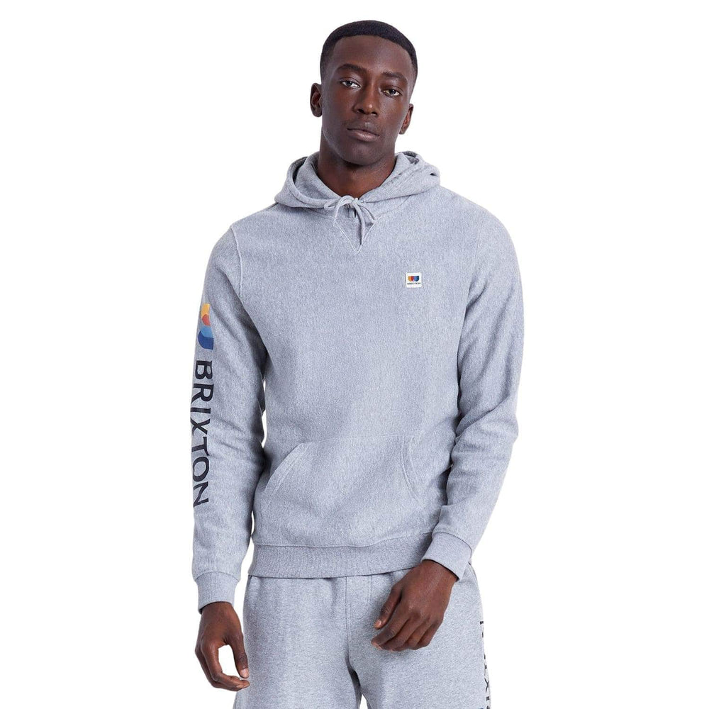 Brixton Stem X Hoodie - Heather Grey