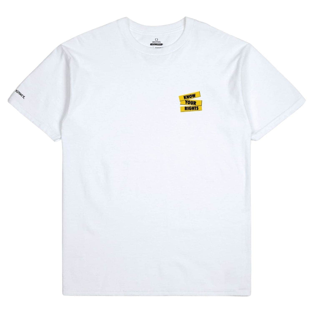 Brixton Strummer KYR T-Shirt White - Mens Plain T-Shirt by Brixton
