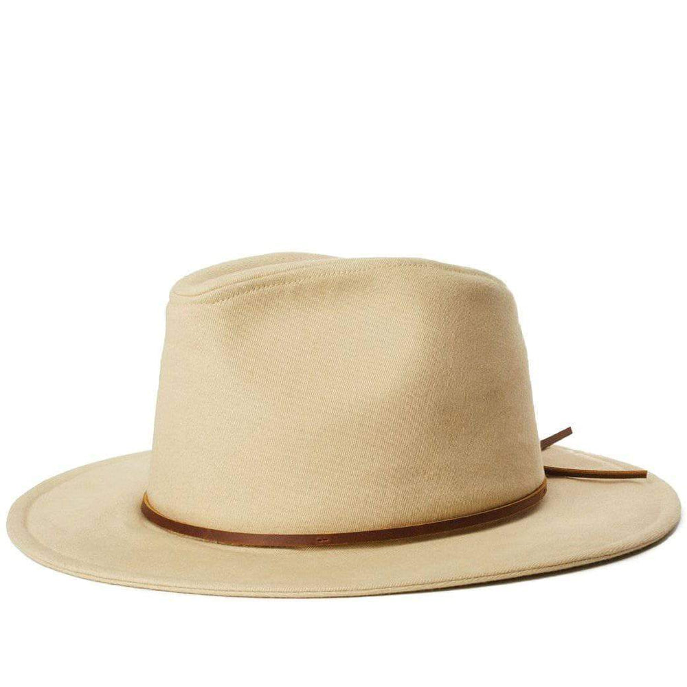 Brixton Wesley Cotton Fedora Hat - Light Khaki