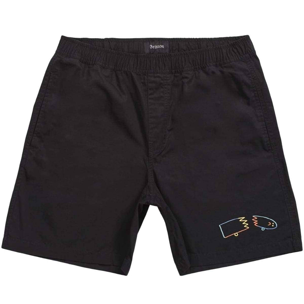 Brixton Steady Elastic Waist Short Black Mens Walk Shorts by Brixton