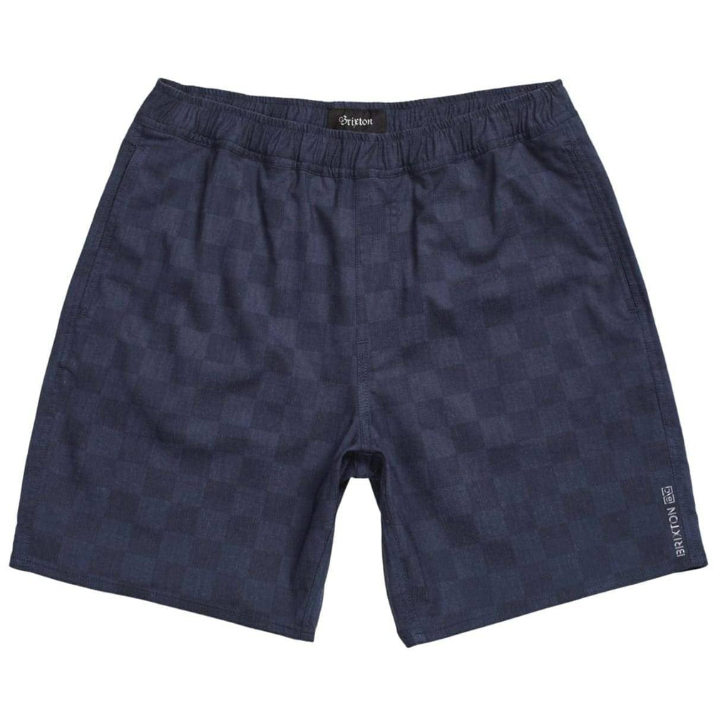 Brixton Steady X Shorts - Washed Navy Check