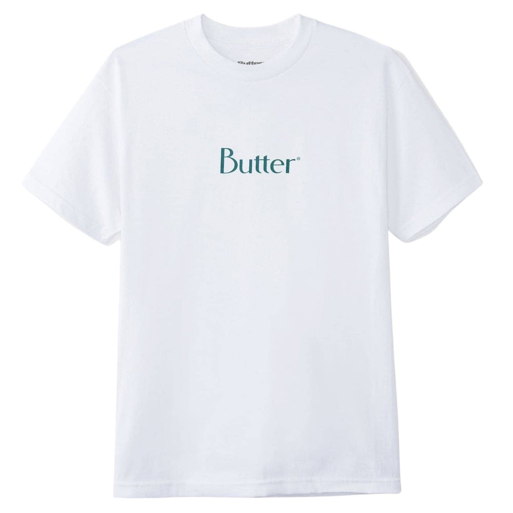 Butter Goods Classic Logo T-Shirt - White - Mens Graphic T-Shirt by Butter Goods
