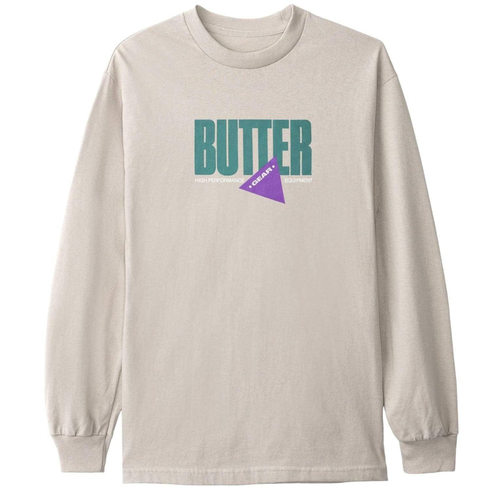 Butter Goods Gear L/S T-Shirt Sand Mens Graphic T-Shirt by Butter Goods