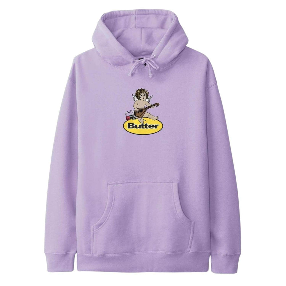 Butter Goods Angel Badge Pullover Hood Lavender - Mens Pullover Hoodie by Butter Goods
