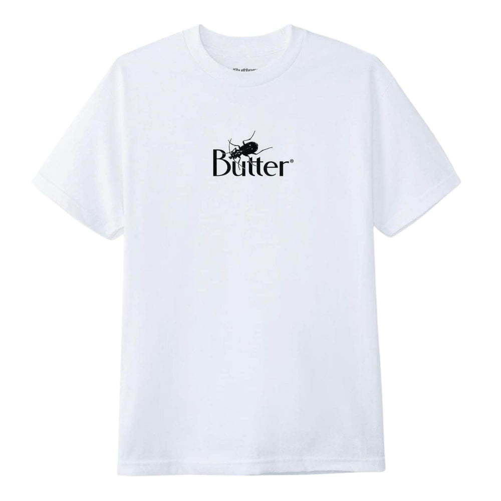 Butter Goods Bug Classic Logo T-Shirt White - Mens Graphic T-Shirt by Butter Goods