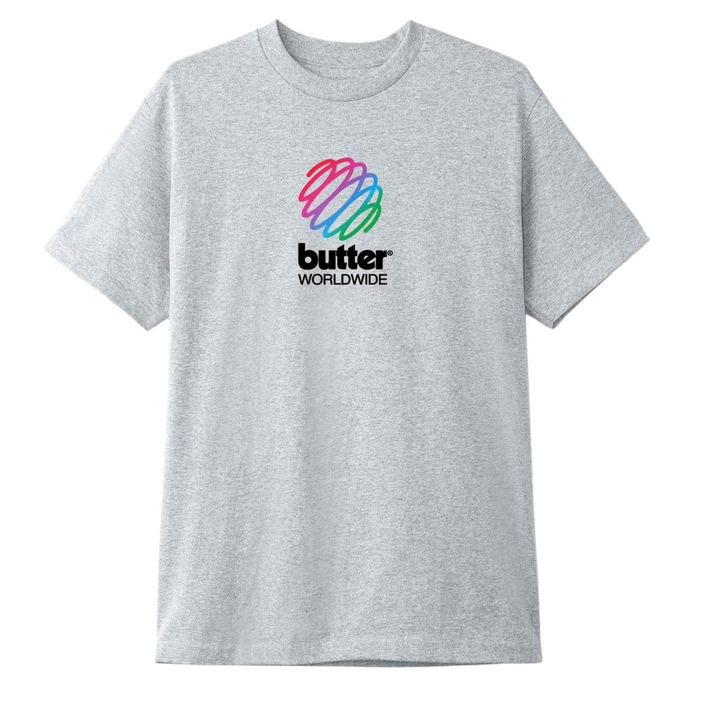 Butter Goods Telecom T-Shirt Ash Grey - Mens Graphic T-Shirt by Butter Goods