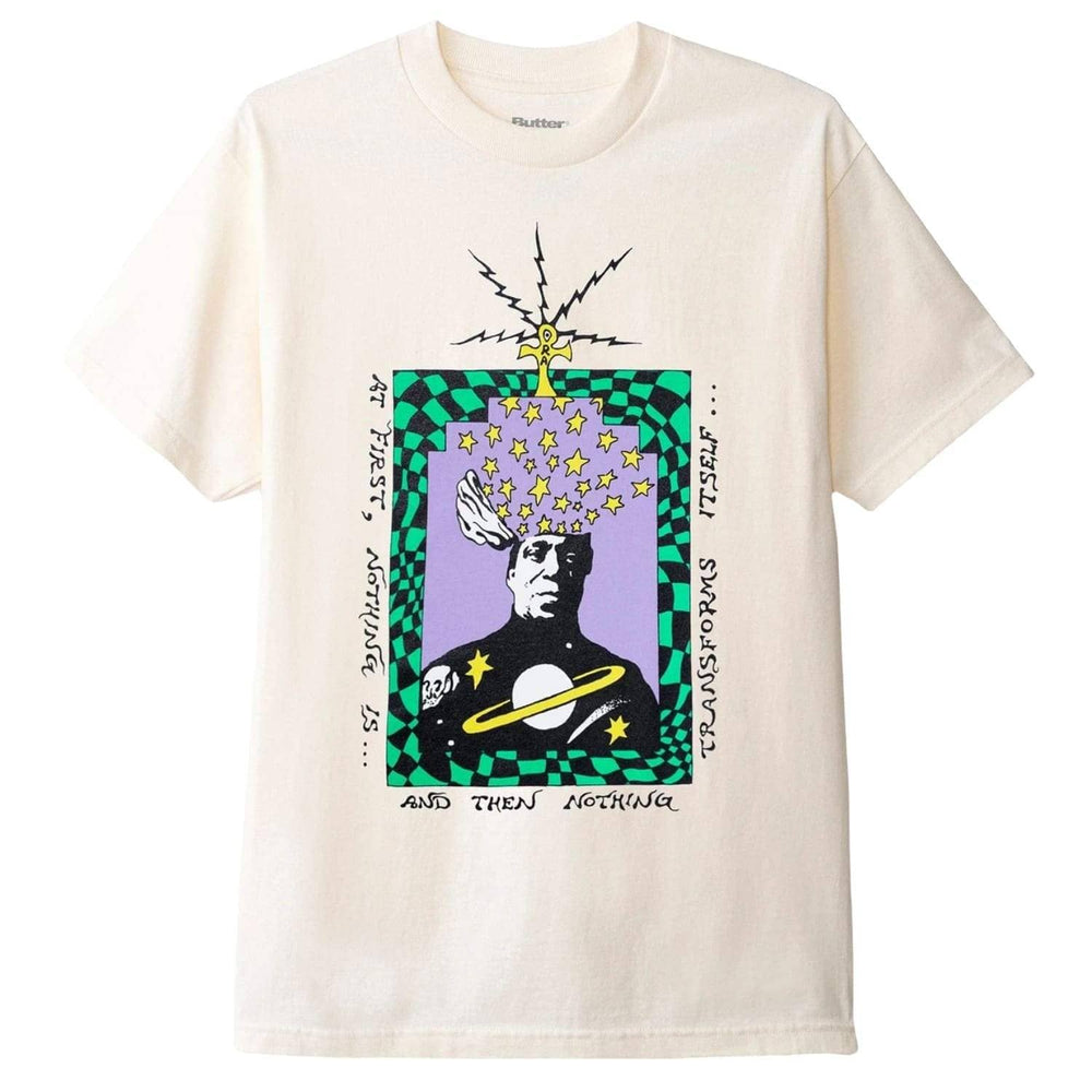 Butter Goods Transform T-Shirt Cream - Mens Graphic T-Shirt by Butter Goods