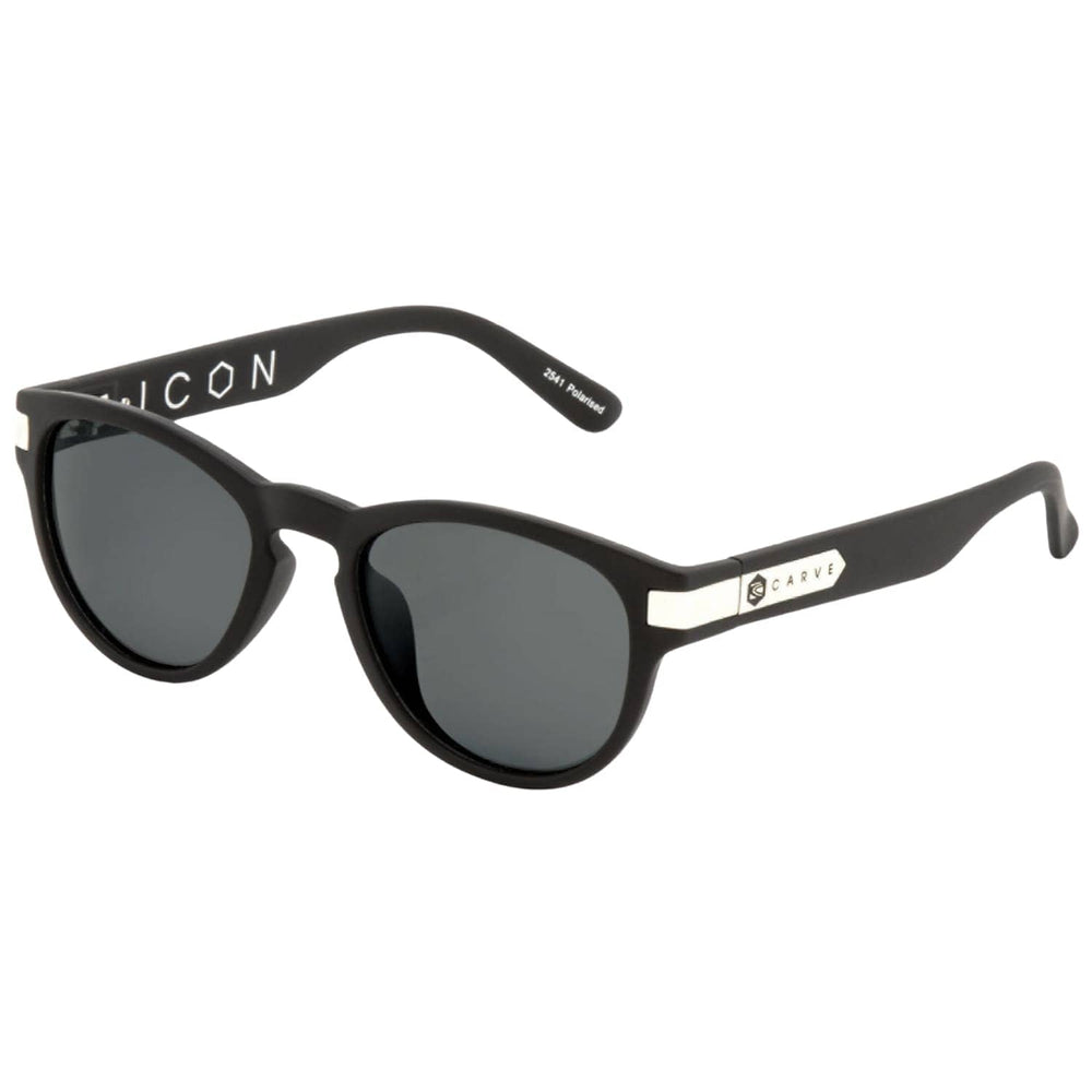 Carve Icon Polarized Sunglasses - Black