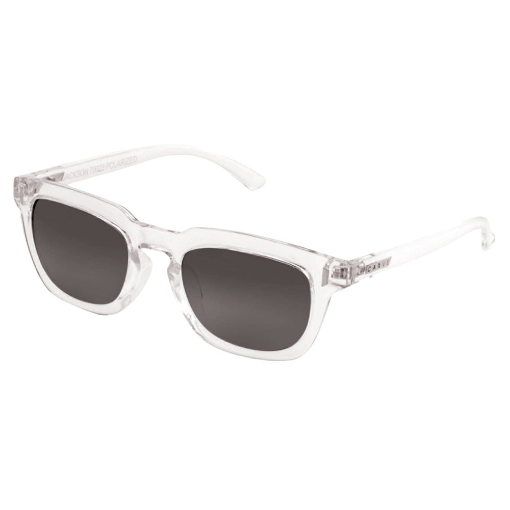 Carve Jackson Sunglasses - Casino Collection - Gloss Clear/Grey Polarized