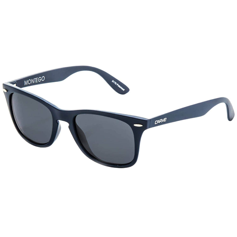 Carve Montego Polarised Sunglasses Navy Polarised N/A - Square/Rectangular Sunglasses by Carve