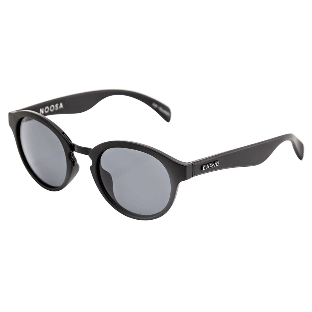 Carve Noosa Polarized Sunglasses Matt Black Polarized N/A - Round Sunglasses by Carve