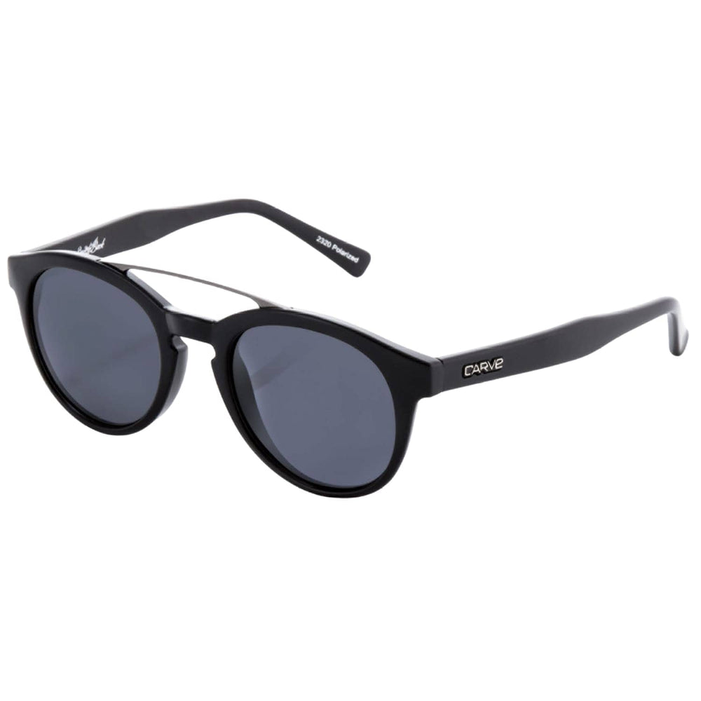 Carve Switchback Polarized Sunglasses Matt Black Polarized N/A - Round Sunglasses by Carve