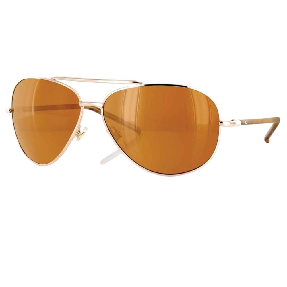 Carve Top Dog Sunglasses Gold Bronze Polarised N/A - Pilot Sunglasses by Carve