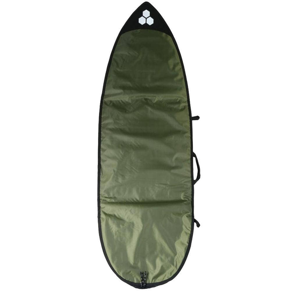 Channel Islands 5ft 8in Feather Lite Surfboard Bag Cover - White/Dark Green Surfboard Day Runner Bag/Cover by Channel Islands 5ft 8in