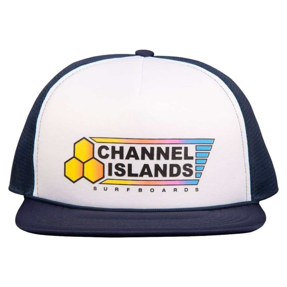 Channel Islands Fade Flag Trucker Cap Indigo O/S (one size) - Trucker Cap by Channel Islands