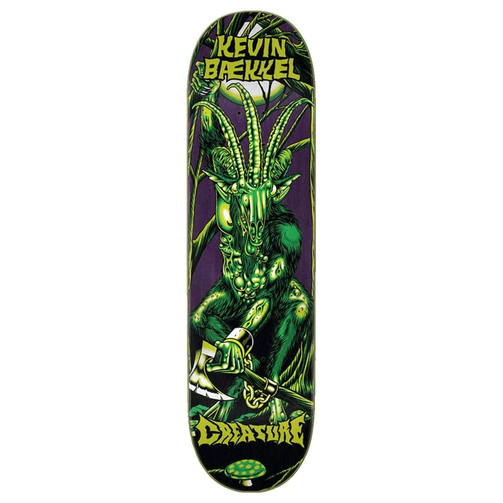 Creature Baekel Swamp Lurker Skate Deck Green 8.6in - Skateboard Deck by Creature