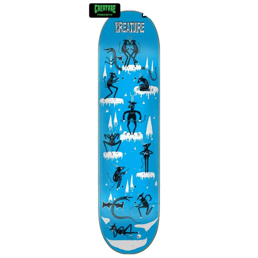 Creature Powerply Free For All Skateboard Deck Blue 8.5in - Skateboard Deck by Creature