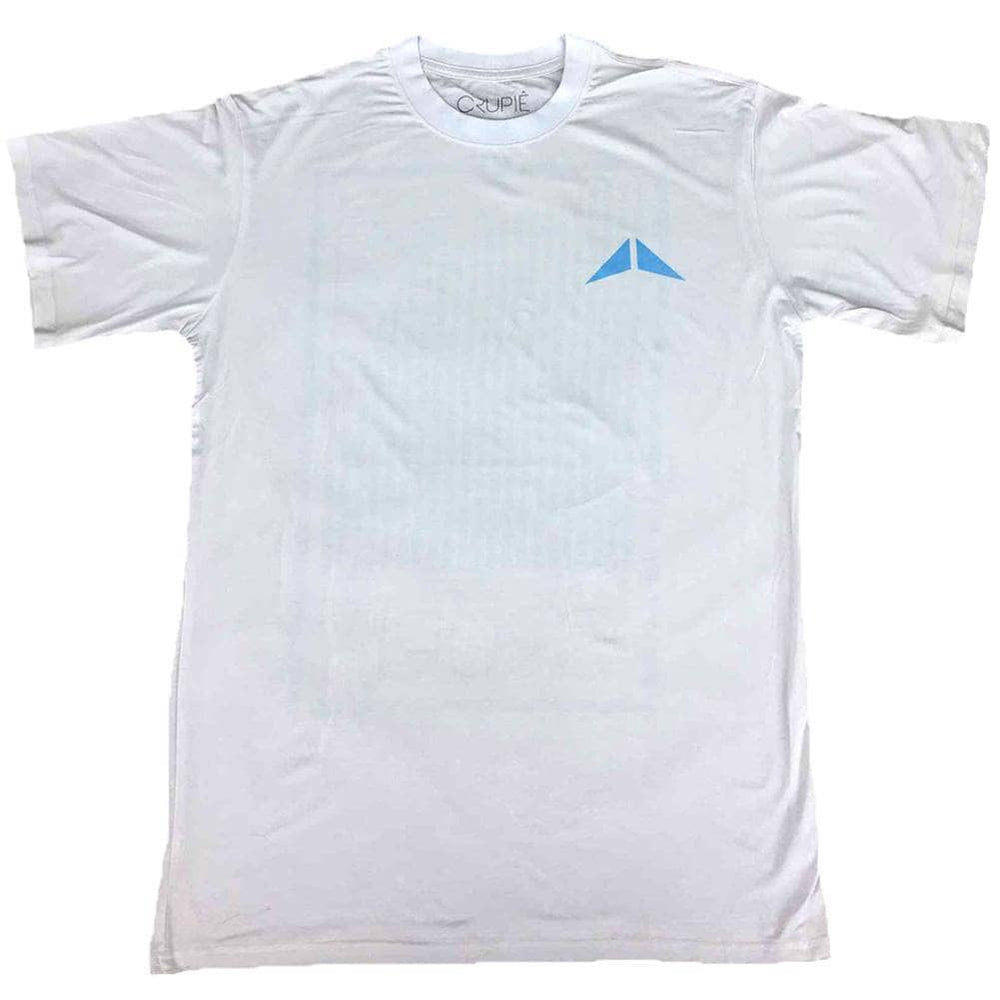 Crupie Crupie Box Logo T-Shirt - White Mens Graphic T-Shirt by Crupie