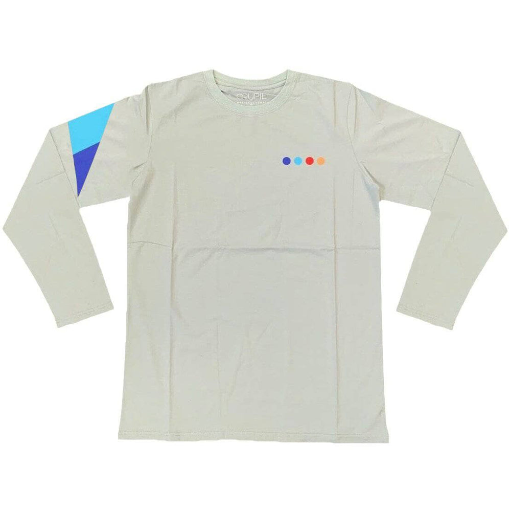 Crupie Delta Dots Logo L/S T-Shirt - Grey Mens Skate Brand T-Shirt by Crupie