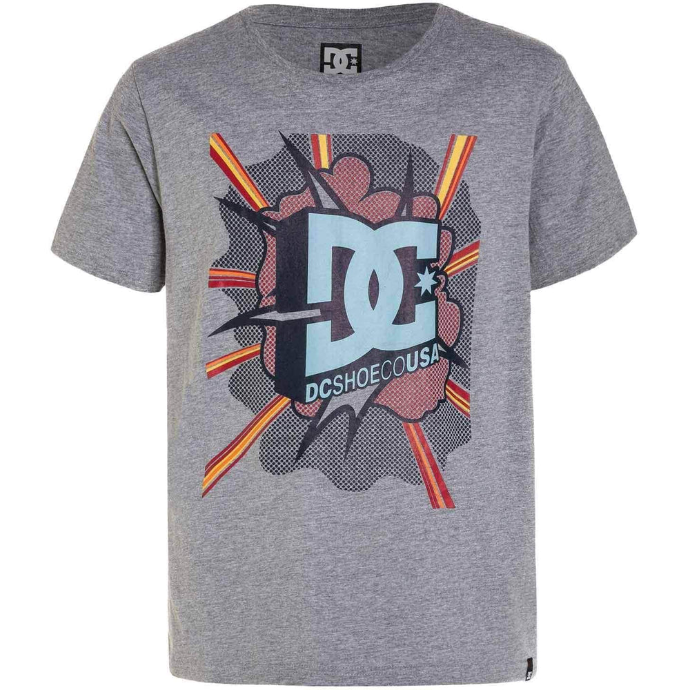 DC Boys Blaster T-Shirt - Grey Heather Boys Skate Brand T-Shirt by DC