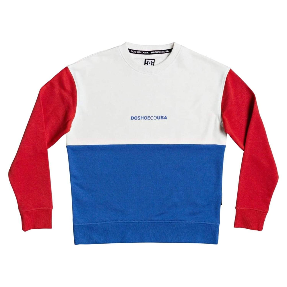 DC Boys Kirtland Crew Neck Sweatshirt White - Boys Crew Neck Sweatshirt by DC